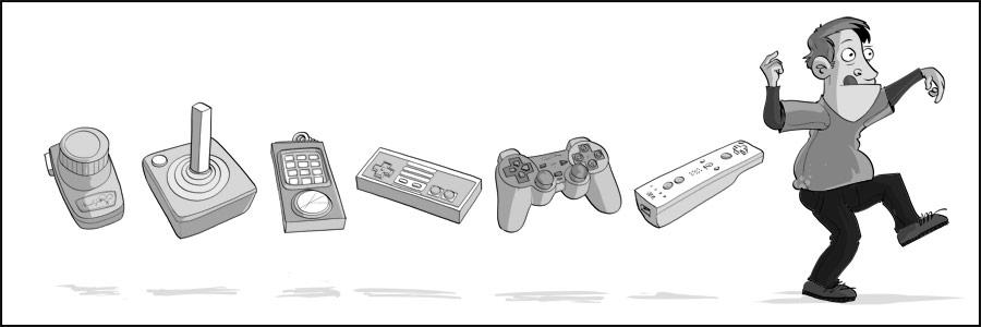 Humour - L'évolution des manettes dans les jeux vidéo