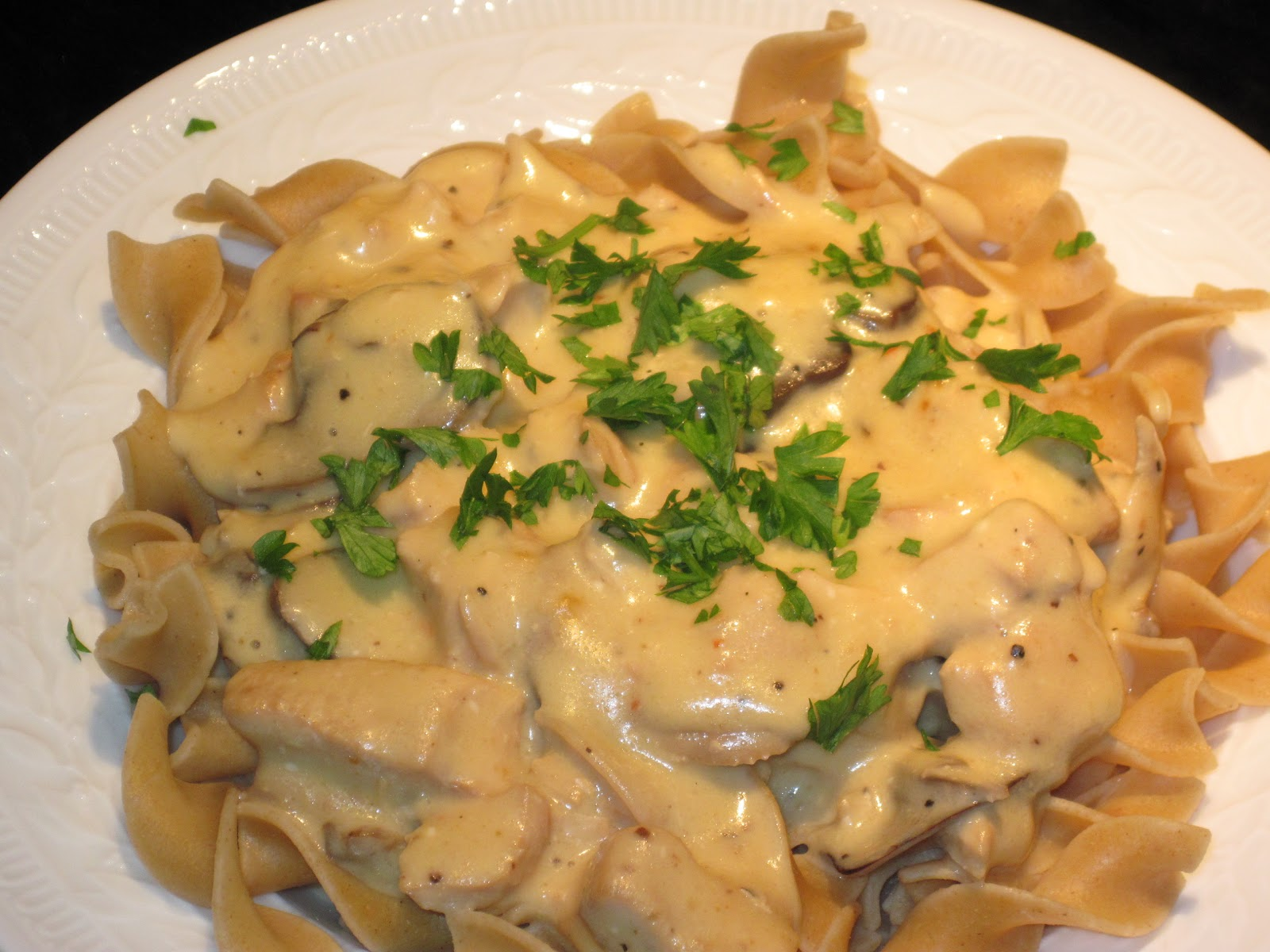 crockpot comfort, or, slow cooker chicken stroganoff: a recipe