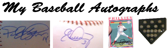 My Baseball Autographs