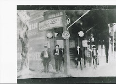 a photograph of the old saloon N. first Street (now Faber's cyclery)