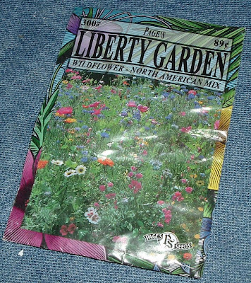 [Photo: Liberty Garden Wildflower - North American Mix seed packet.]