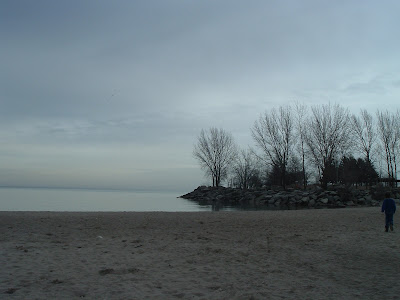 [Photo: the beach at Ashbridges Bay Park.]