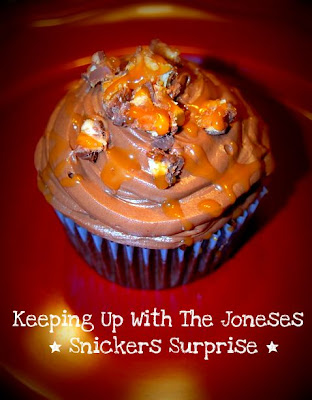 cupcakes, chocolate, snickers, caramel