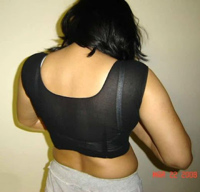 Hot Aunties Blouse Back