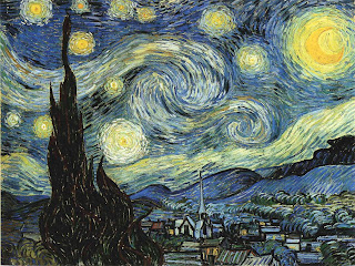 i found the perfect piece of artdigital art for a new years eve quick post its a 3d recreation of one of my favourite paintings by van gogh starry