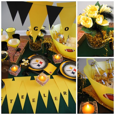 Easy Super Bowl Party Ideas Steelers Theme Party Oh My