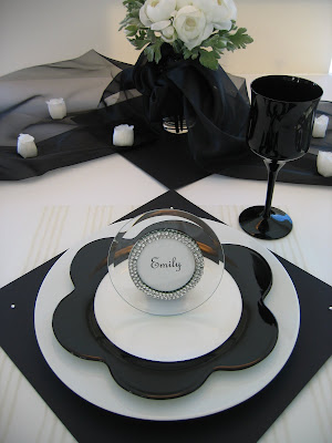 Black Tie Tablescape Oh My Creative