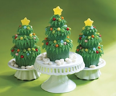 Jelly Belly Christmas Tree Cupcakes