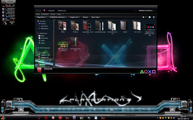 Playstation 3 Theme for Windows 7