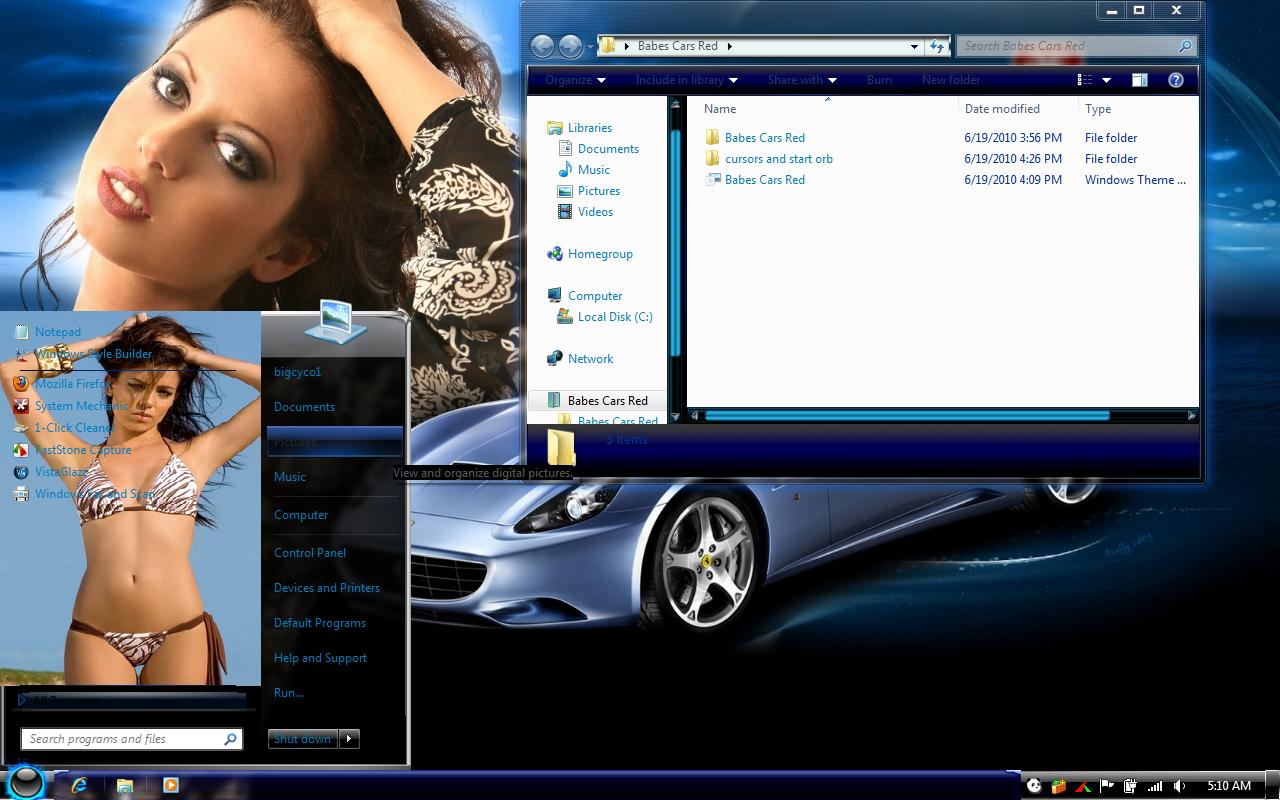 темы эротика на windows 7