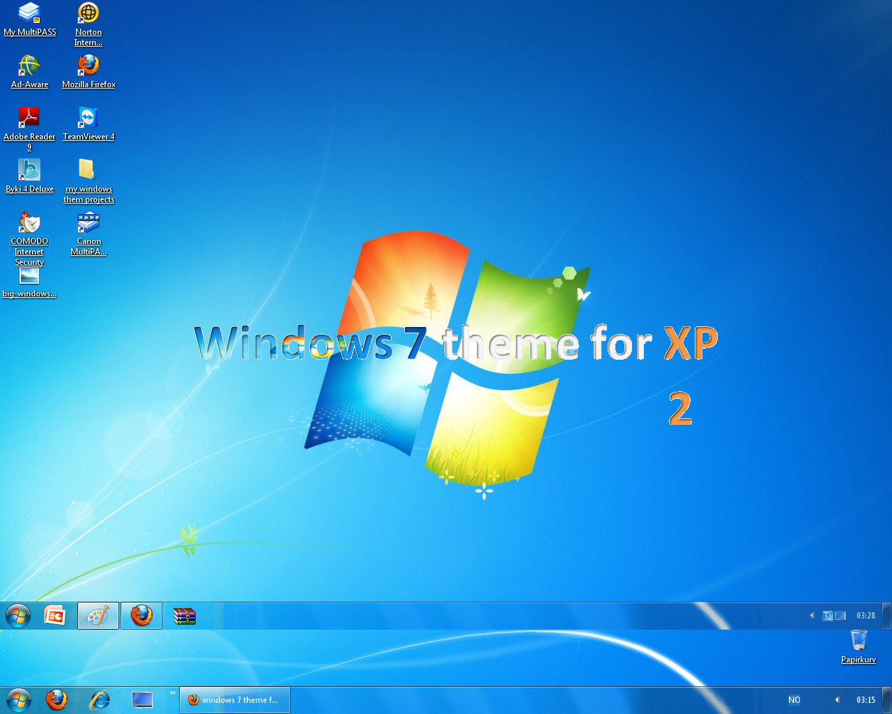 Google themes windows xp