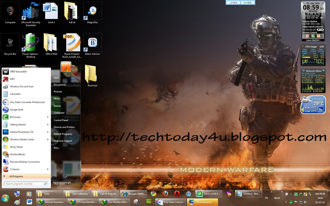 Best Gaming Theme Collection For Windows 7 - All In 1 Page