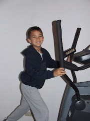 Josh on the elliptical