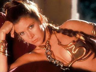 Princess Leia in gold bikini