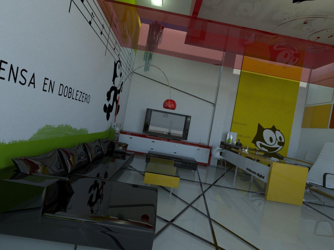 Lapizartedigital dise o oficinas doblezero for Diseno de oficinas 2018