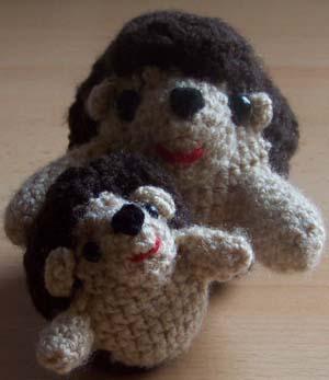 moeder en dochter egel