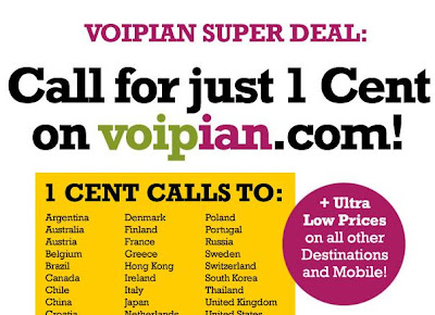 Voipian 1cent per call