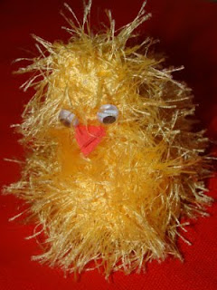 Fluffy Knitted Easter Chick
