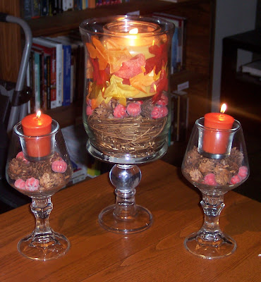 Pottery Barn Inspired Fall Centerpiece