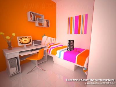 Desain Interior Kamar Tidur Kecil Full Color