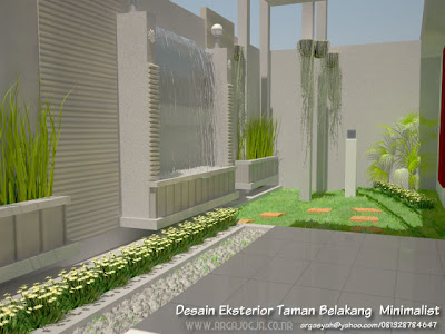 Desain Eksterior Taman Belakang Minimalist