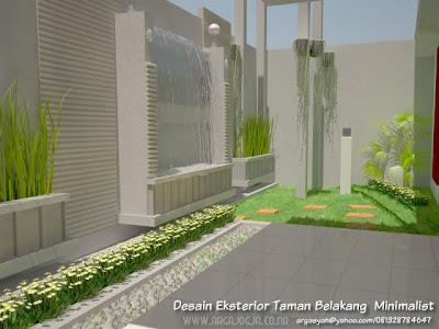Taman Minimalis Sederhana on Desain Eksterior Taman Belakang Minimalist