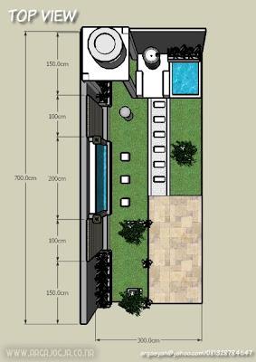 Desain Eksterior Taman Belakang Minimalist Part 2