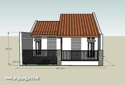 desain rumah minimalis type 45 on ... Arsitek: Desain Sketch Eksterior Rumah Mungil Minimalis type 36 Part 2