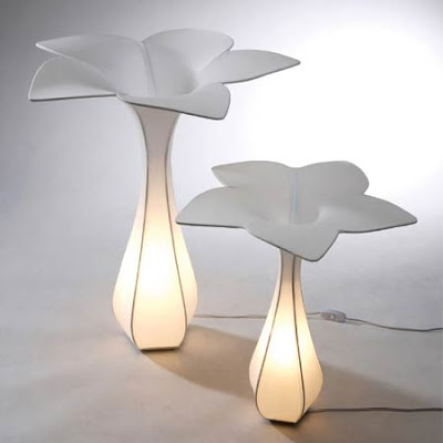 Modern lamp design nature inspired table and lamp set from shige hasegawa - Contemporary table lamps design ideas ...