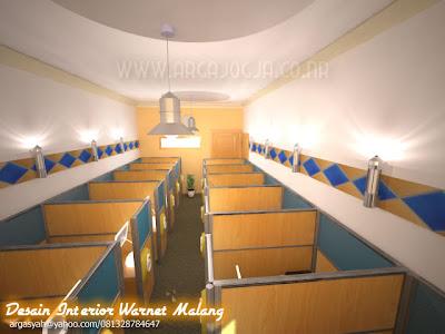 Desain Interior Warnet Malang Ukuran 3,4x7,5