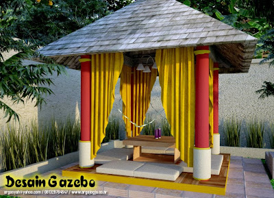Desain Eksterior Gazebo