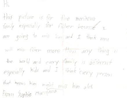 Sophie's Letter