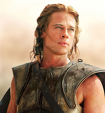 This film definitely puts us in mind of an epic  Unfortunately   quot epic    Achilles Brad Pitt Hair