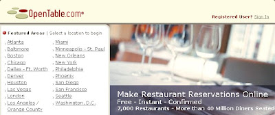 My ECommerce OpenTablecom Online Restaurant Reservations - Open table houston