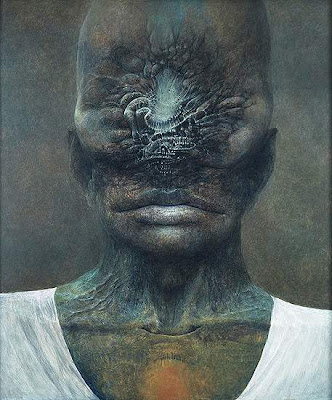 beksiński twarz