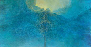 beksiński drzewa