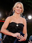 Christine Taylor in Neil Lane Lapis Jewelry