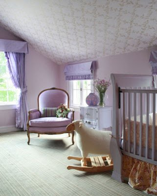 Lavender nursery in an attic