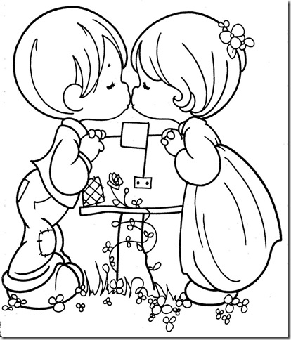 Wedding precious moments coloring pages