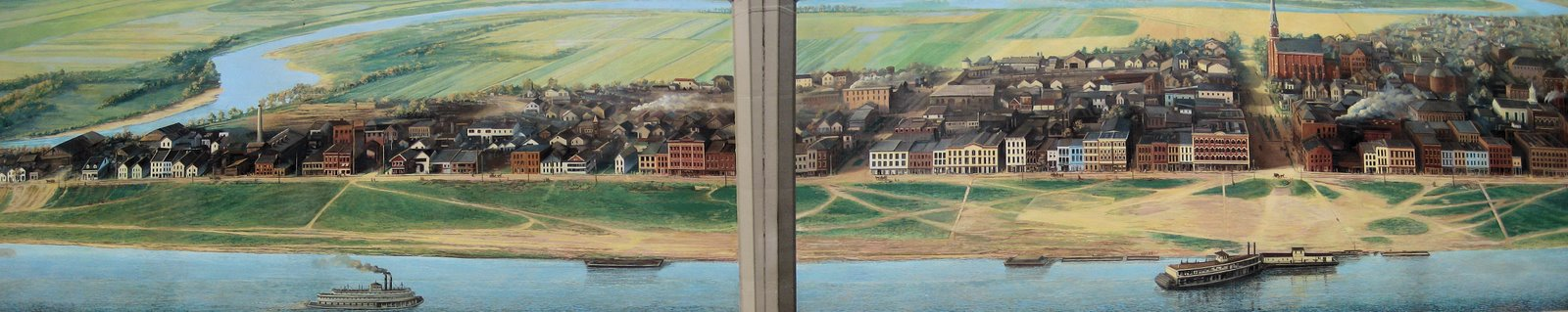 Floodwall Mural of Portsmouth, Ohio, 1903.