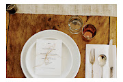 I think this simple table setting just get it rightan old wooden table, .