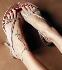Cross Tattoos Foot