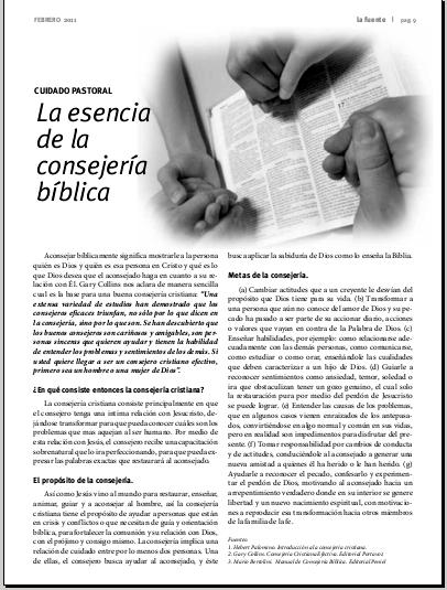 La esencia de la consejera bblica revista la fuente la esencia de la consejera bblica aconsejar bblicamente fandeluxe Gallery