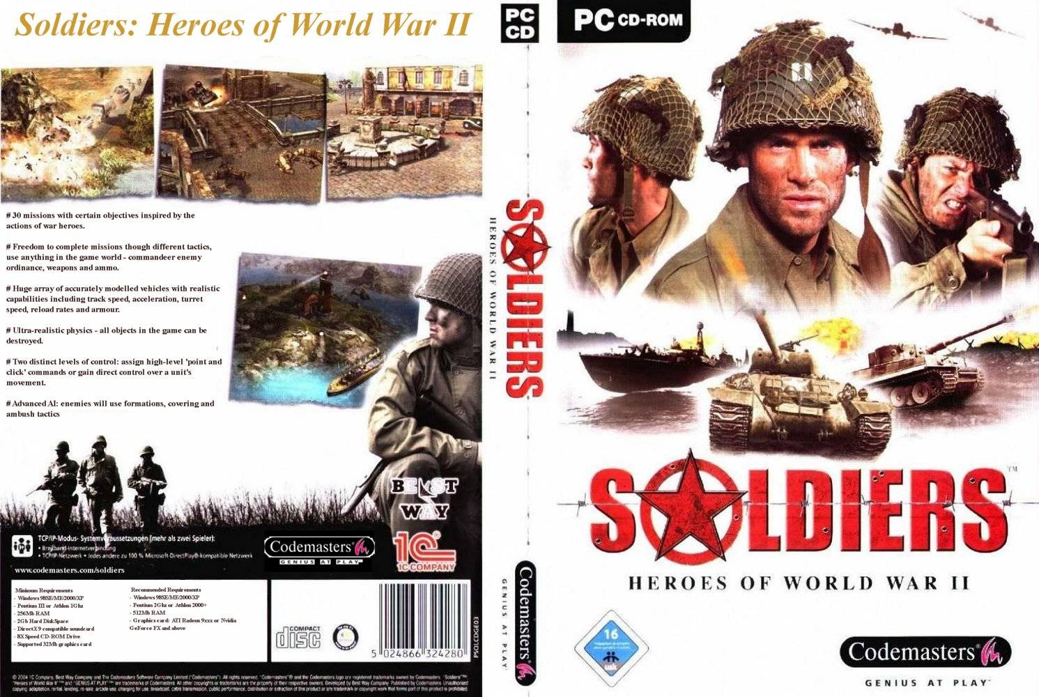 soldiers who are heroes Metacritic game reviews, soldiers: heroes of world war ii for pc, soldiers is a third-person tactical action game that plays out like a blockbuster war movie 30+ missions, more than 100 vehicles, 25+ we.
