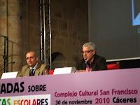 VI Jornadas de Bibliotecas Escolares de Extremadura en Cáceres Gracia Iglesias Pep Bruno Alfredo Gómez Cerdá