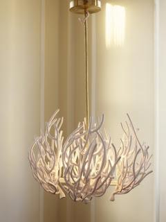 Chandelier whitetwigs - Wall branch chandelier