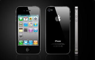 Apple iPhone 4 Black Front and Side View