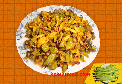 French Beans and Coconut Fry