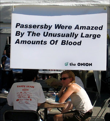 Onion blood sign