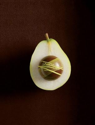 Pear ganache